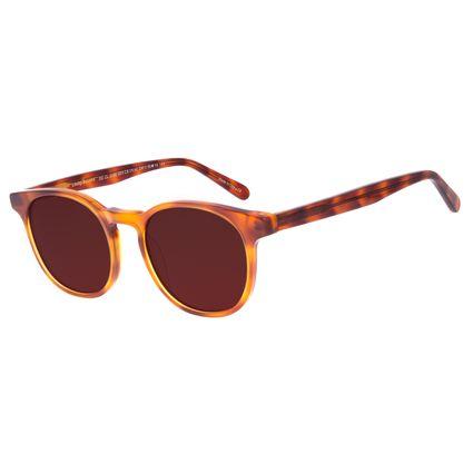 Óculos de Sol Unissex Chilli Beans Redondo Caramelo OC.CL.3198-0203