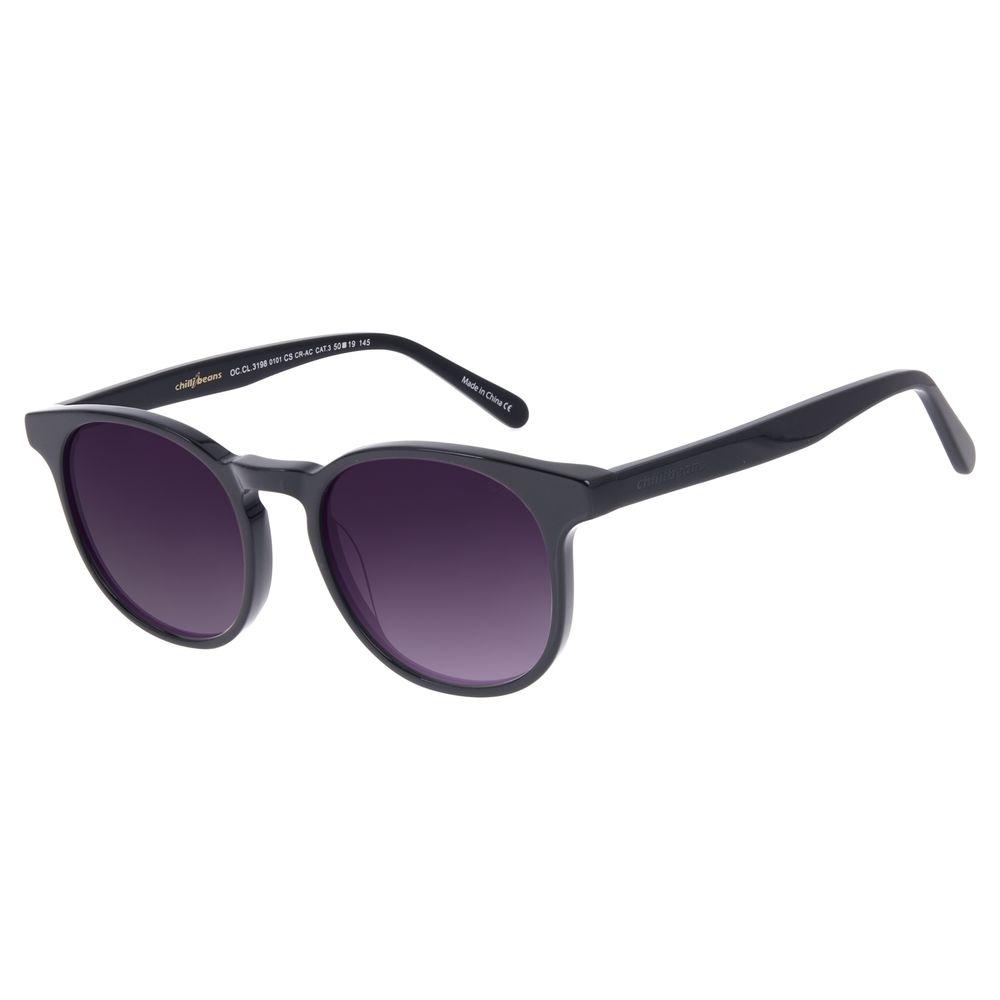 Óculos de Sol Unissex Chilli Beans Redondo Preto OC.CL.3198-0101