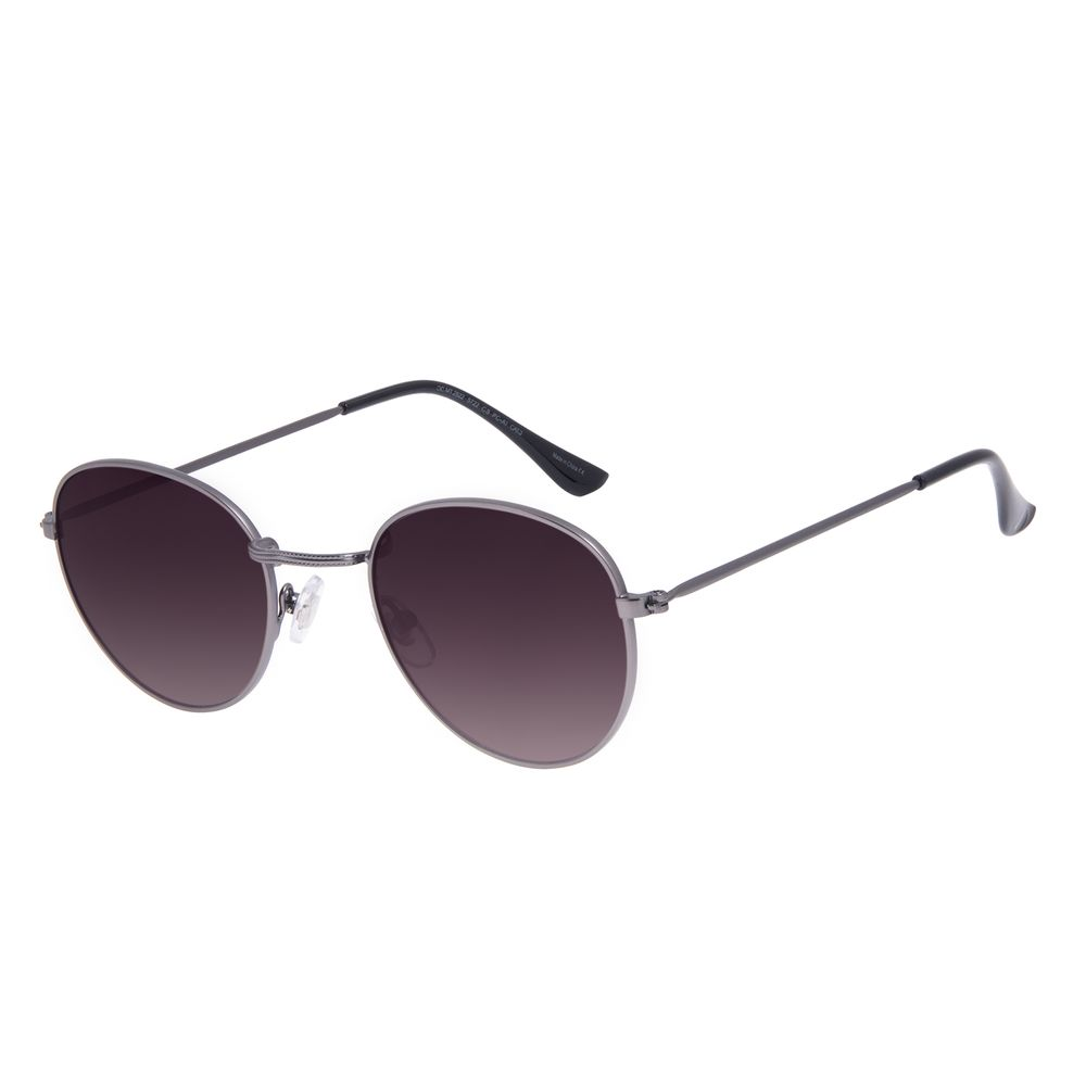 Óculos de Sol Unissex Chilli Beans Essential Redondo Metal Degradê Marrom OC.MT.2822-5722