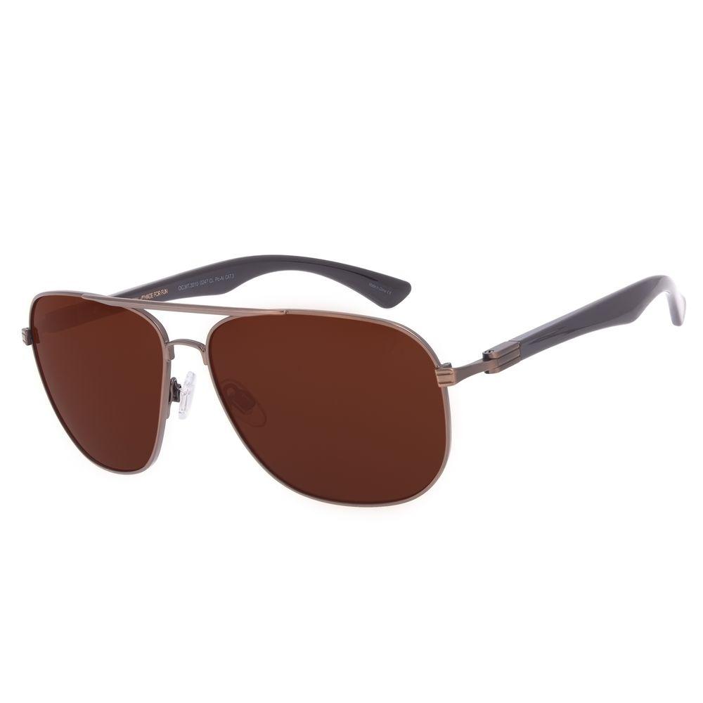 Óculos de Sol Masculino Chilli Beans Executivo Metal Marrom Escuro OC.MT.3010-0247