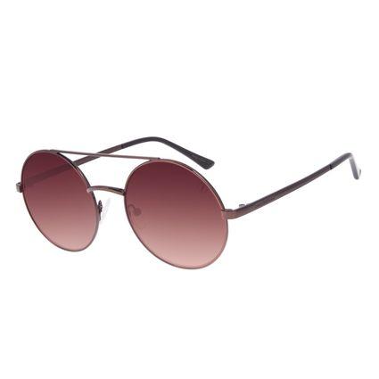 Óculos de Sol Unissex Chilli Beans Round Metal Marrom OC.MT.3039-5702