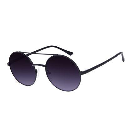 Óculos de Sol Unissex Chilli Beans Round Metal Preto OC.MT.3039-0101
