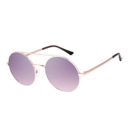 Óculos de Sol Unissex Chilli Beans Round Metal Dourado OC.MT.3039-5721