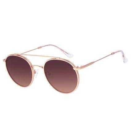 Óculos de Sol Unissex Chilli Beans Round Metal Rosé OC.MT.3040-5795