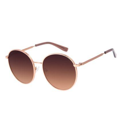 Óculos de Sol Feminino Chilli Beans Redondo Degradê Marrom OC.MT.2956-5702