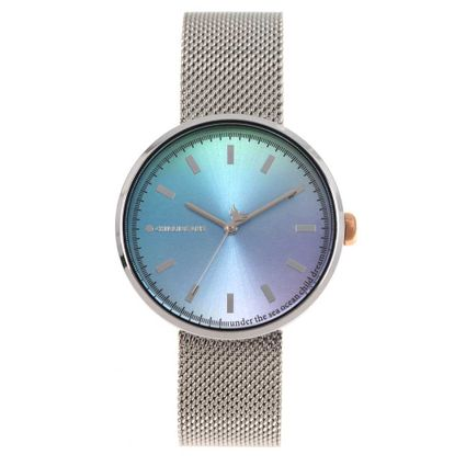 Relógio Analógico Feminino Color Match Sea Prata RE.MT.1168-0807