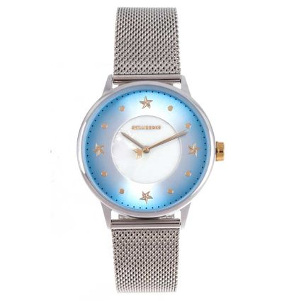 Relógio Analógico Feminino Mar.É Perolado Prata RE.MT.1166-0807