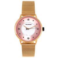 Relógio Analógico Feminino Mar.É Perolado Dourado RE.MT.1166-1321