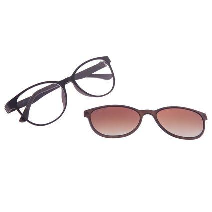 Armação Para Óculos de Grau Feminino Chilli Beans Multi Polarizado Marrom LV.MU.0030-0202