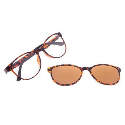 Armação Para Óculos de Grau Feminino Chilli Beans Multi Polarizado Tartaruga LV.MU.0030-2102