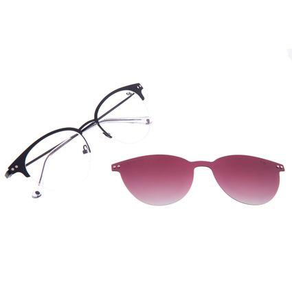 Armação Para Óculos de Grau Feminino Chilli Beans Multi Redondo Polarizado Preto LV.MU.0468-2001