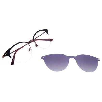Armação Para Óculos de Grau Feminino Chilli Beans Multi Redondo Polarizado Marrom LV.MU.0468-2002