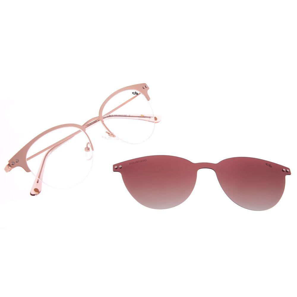 Armação Para Óculos de Grau Feminino Chilli Beans Multi Redondo Polarizado Rosé LV.MU.0468-5795