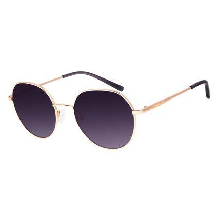 Óculos de Sol Feminino Chilli Beans Redondo Degradê Marrom Banhado a Ouro OC.MT.3045-5721