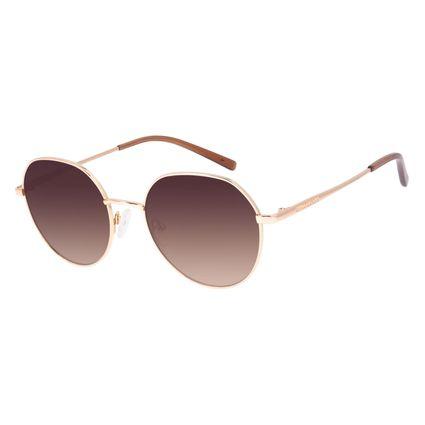Óculos de Sol Feminino Chilli Beans Redondo Dourado Banhado a Ouro OC.MT.3045-2021