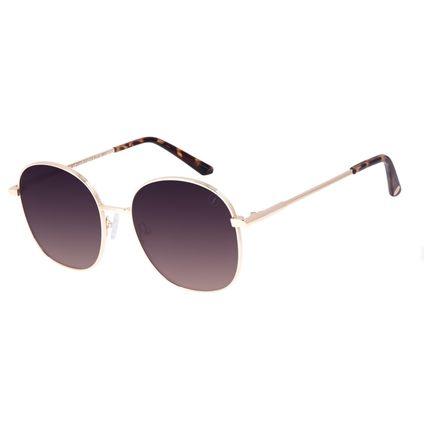 Óculos de Sol Feminino Chilli Beans Banhado a Ouro Dourado OC.MT.2973-0221