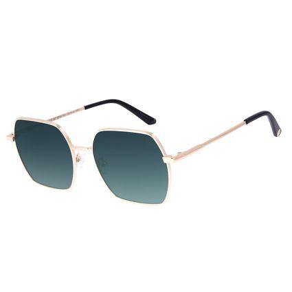 Óculos de Sol Feminino Chilli Beans Banhado a Ouro Verde OC.MT.2974-1521