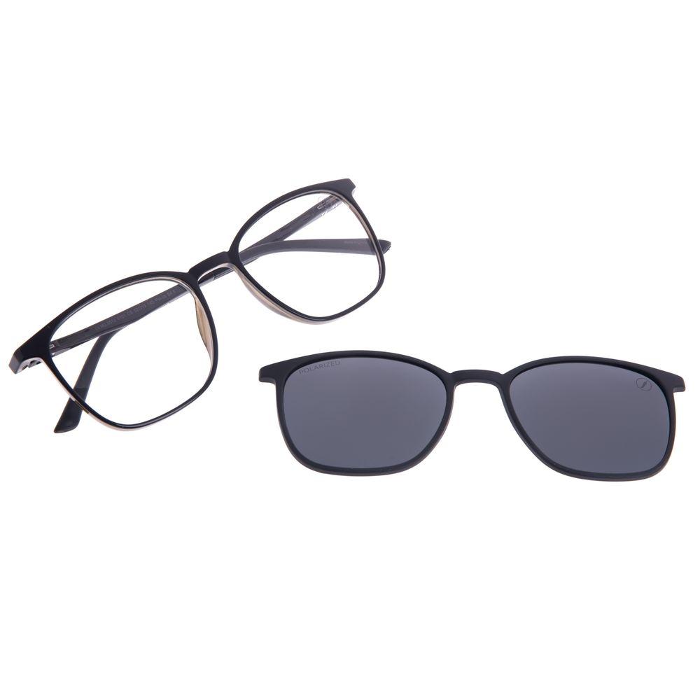 Armação Para Óculos de Grau Unissex Chilli Beans Multi Polarizado Preto LV.MU.0512-0101