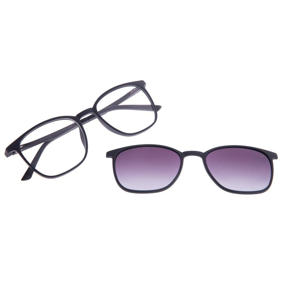 Armação Para Óculos de Grau Unissex Chilli Beans Multi Polarizado Degradê Preto LV.MU.0512-2001