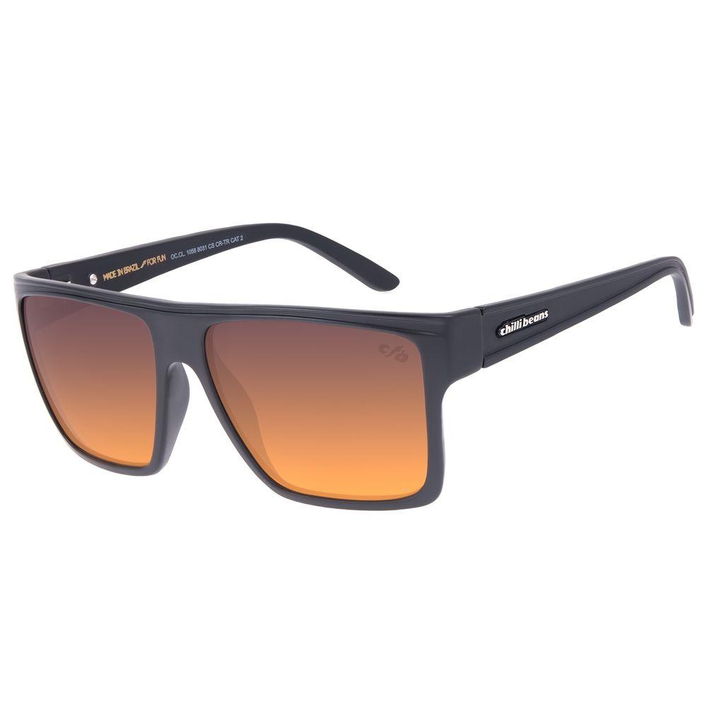 Óculos de Sol Unissex Chilli Beans Essential Quadrado Fosco OC.CL.1058-8031