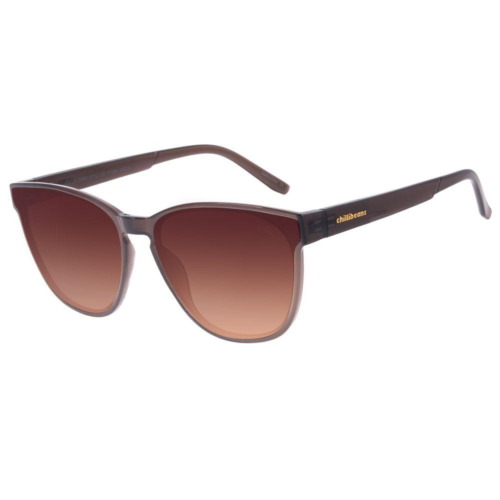 Óculos de Sol Feminino Chilli Beans Quadrado Marrom OC.CL.2885-5702