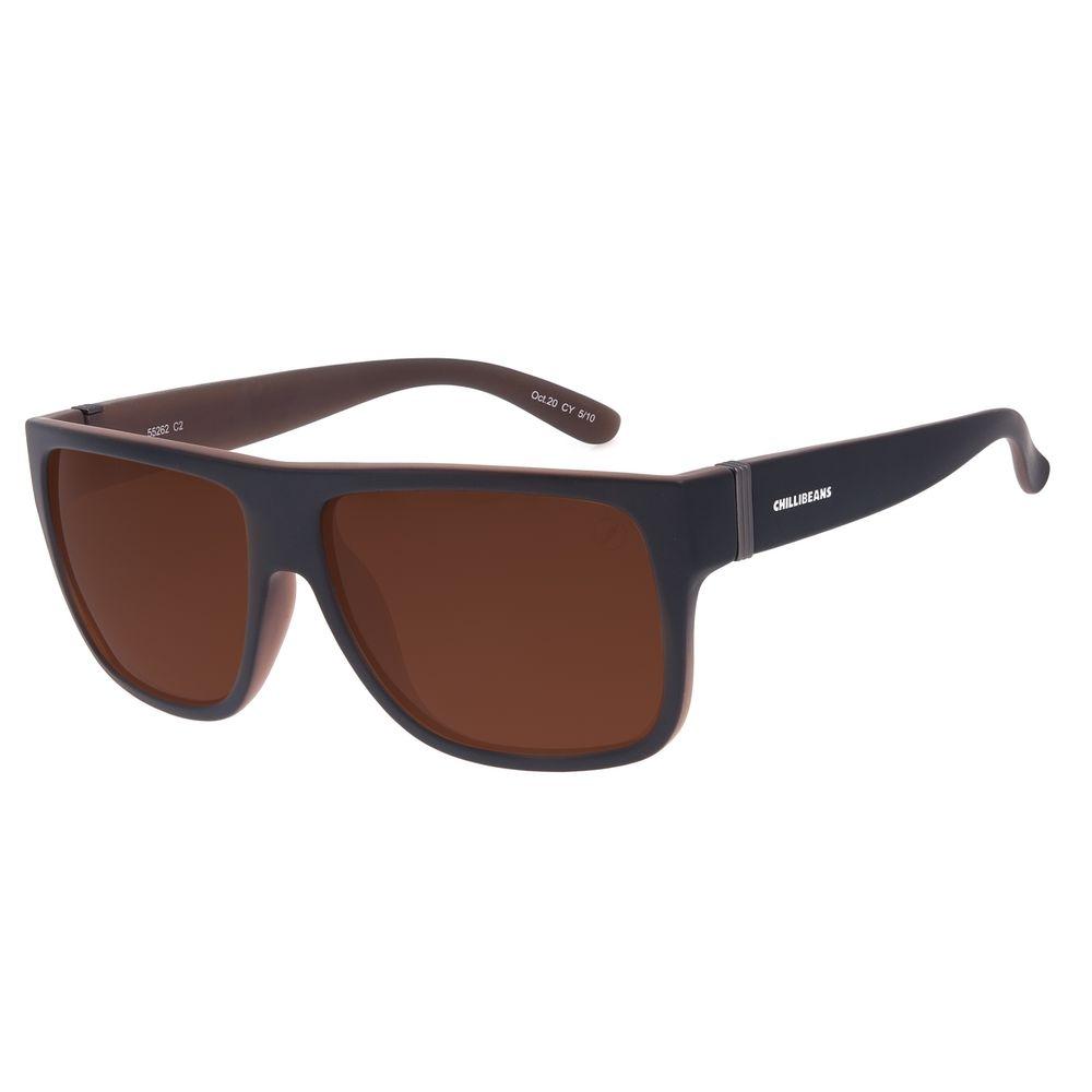 Óculos de Sol Masculino Chilli Beans Bossa Nova Polarizado Marrom OC.CL.3201-0201