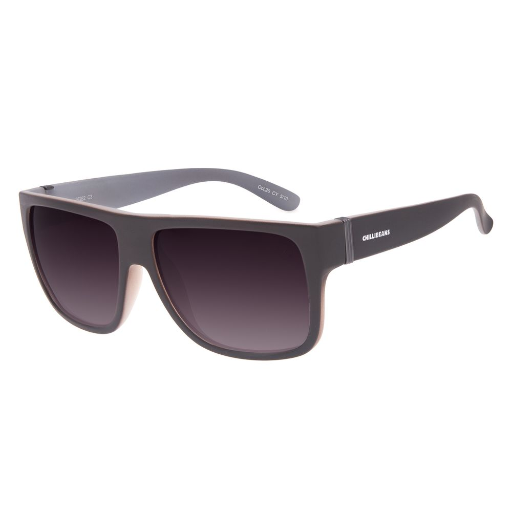 Óculos de Sol Masculino Chilli Beans Bossa Nova Polarizado Marrom Escuro OC.CL.3201-2047