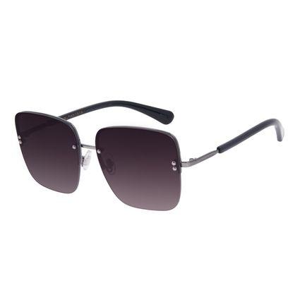 Óculos de Sol Feminino Chilli Beans Quadrado Casual Metal Ônix OC.MT.2559-0122