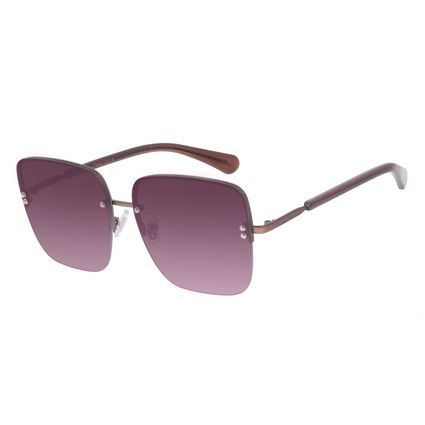 Óculos de Sol Feminino Chilli Beans Quadrado Casual Metal Degradê OC.MT.2559-2022