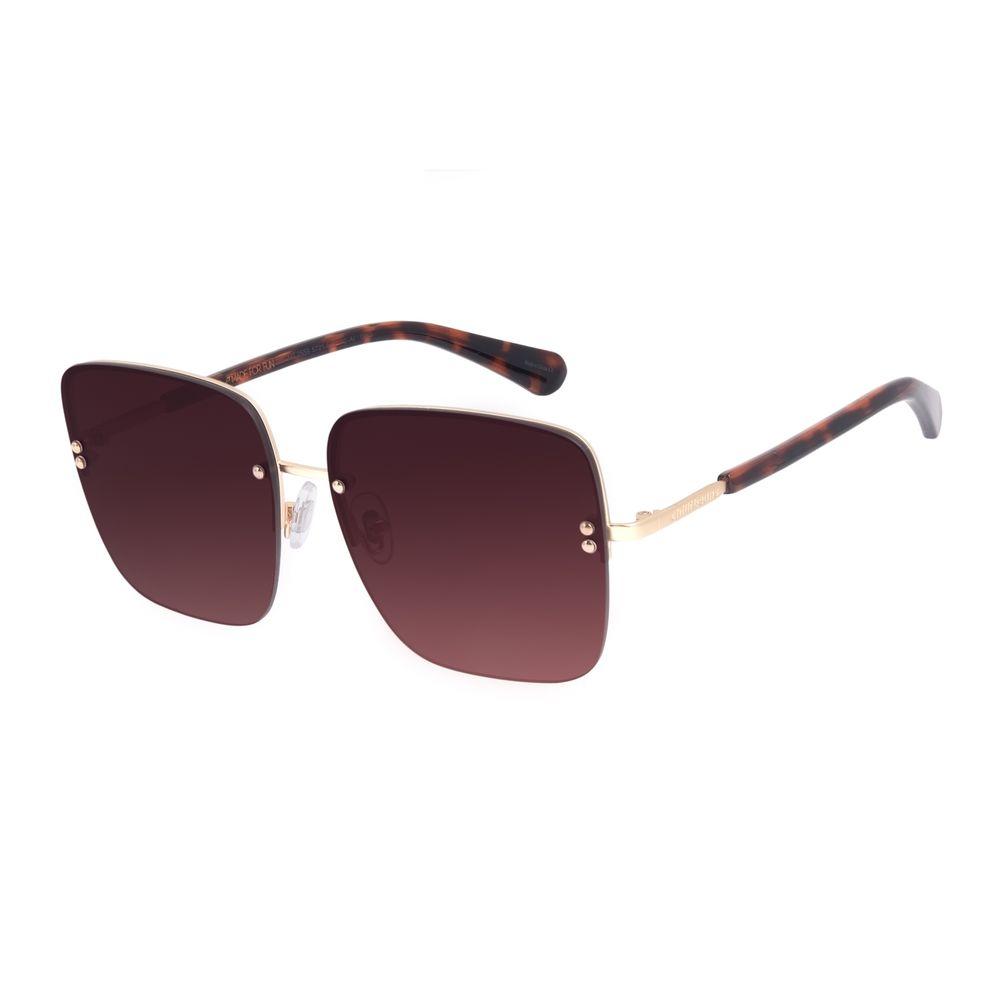 Óculos de Sol Feminino Chilli Beans Quadrado Casual Metal Dourado OC.MT.2559-5721
