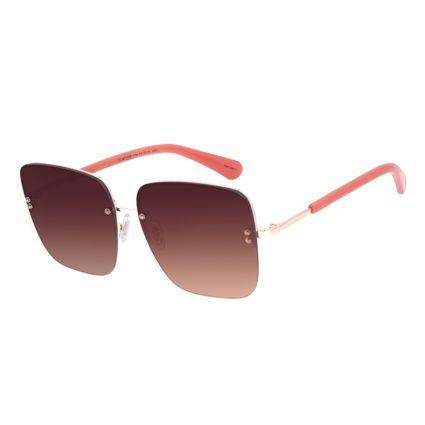 Óculos de Sol Feminino Chilli Beans Quadrado Casual Metal Rosé OC.MT.2559-5795