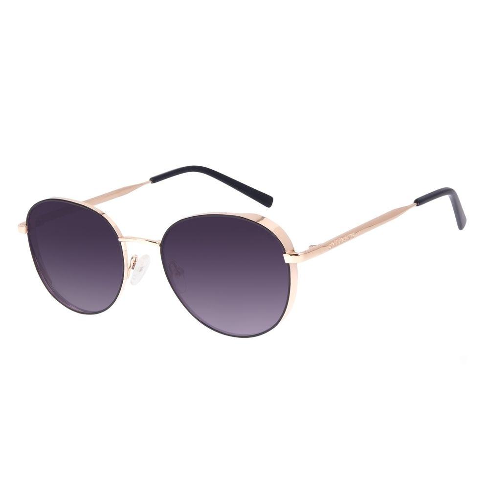 Óculos de Sol Feminino Chilli Beans Redondo Flap Dourado OC.MT.3002-0121