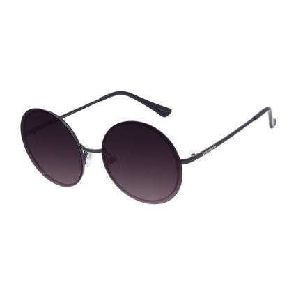 Óculos de Sol Feminino Chilli Beans Casual Redondo Metal Preto OC.MT.3009-2001