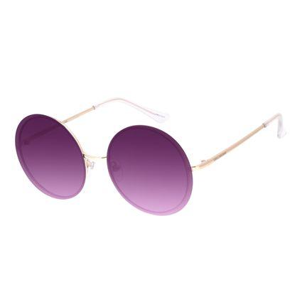 Óculos de Sol Feminino Chilli Beans Casual Redondo Metal Dourado OC.MT.3009-2021