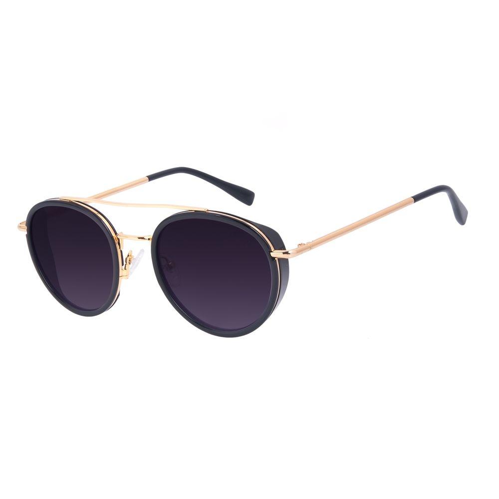 Óculos de Sol Unissex A.H Circus Redondo Banhado a Ouro Degradê OC.CL.3211-2021