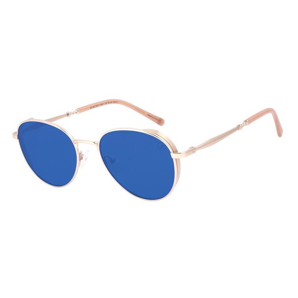 Óculos de Sol Feminino A.H Circus Redondo Twist Azul OC.MT.3037-0821