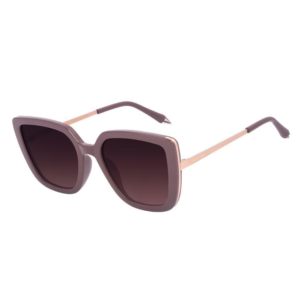 Óculos de Sol Feminino A.H Circus Quadrado Degradê Marrom OC.CL.3214-2002