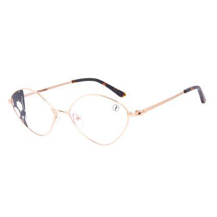 Armação Para Óculos de Grau Feminino A.H Circus Circense Redondo Dourado LV.MT.0492-2121