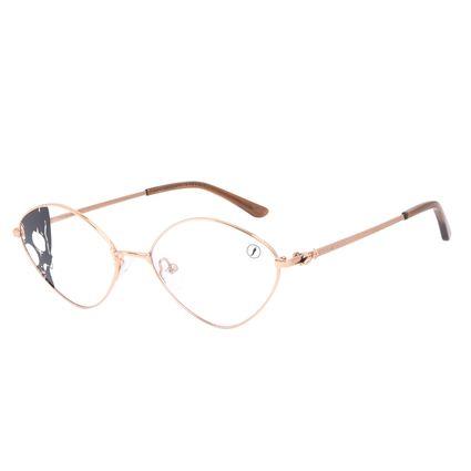Armação Para Óculos de Grau Feminino A.H Circus Circense Redondo Marrom LV.MT.0492-0202