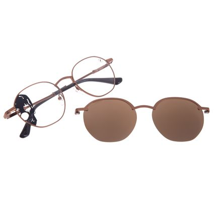 Armação Para Óculos de Grau Unissex A.H Circus Multi Marrom Polarizado LV.MU.0530-0239