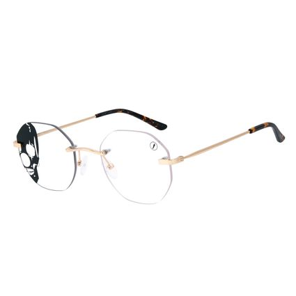 Armação Para Óculos de Grau A.H Circus 3 Peças Dourado LV.MT.0490-2121