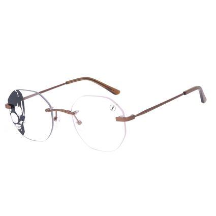 Armação Para Óculos de Grau A.H Circus 3 Peças Marrom LV.MT.0490-0202