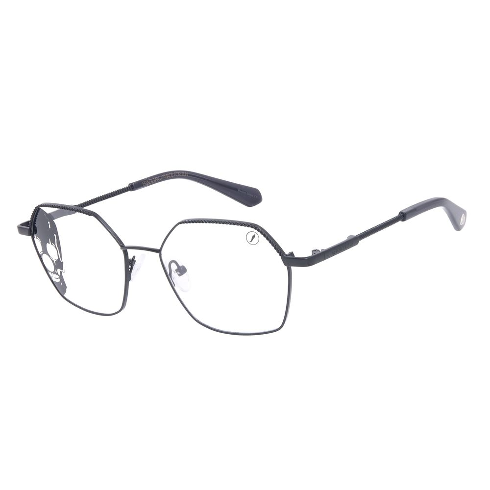 Armação Para Óculos de Grau Unissex A.H Circus Hexagonal Preto LV.MT.0491-0101