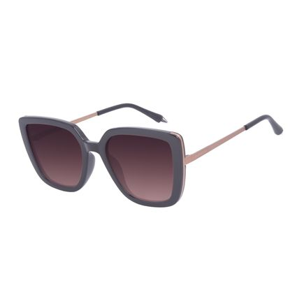 Óculos de Sol Feminino A.H Circus Quadrado Marrom OC.CL.3214-5702