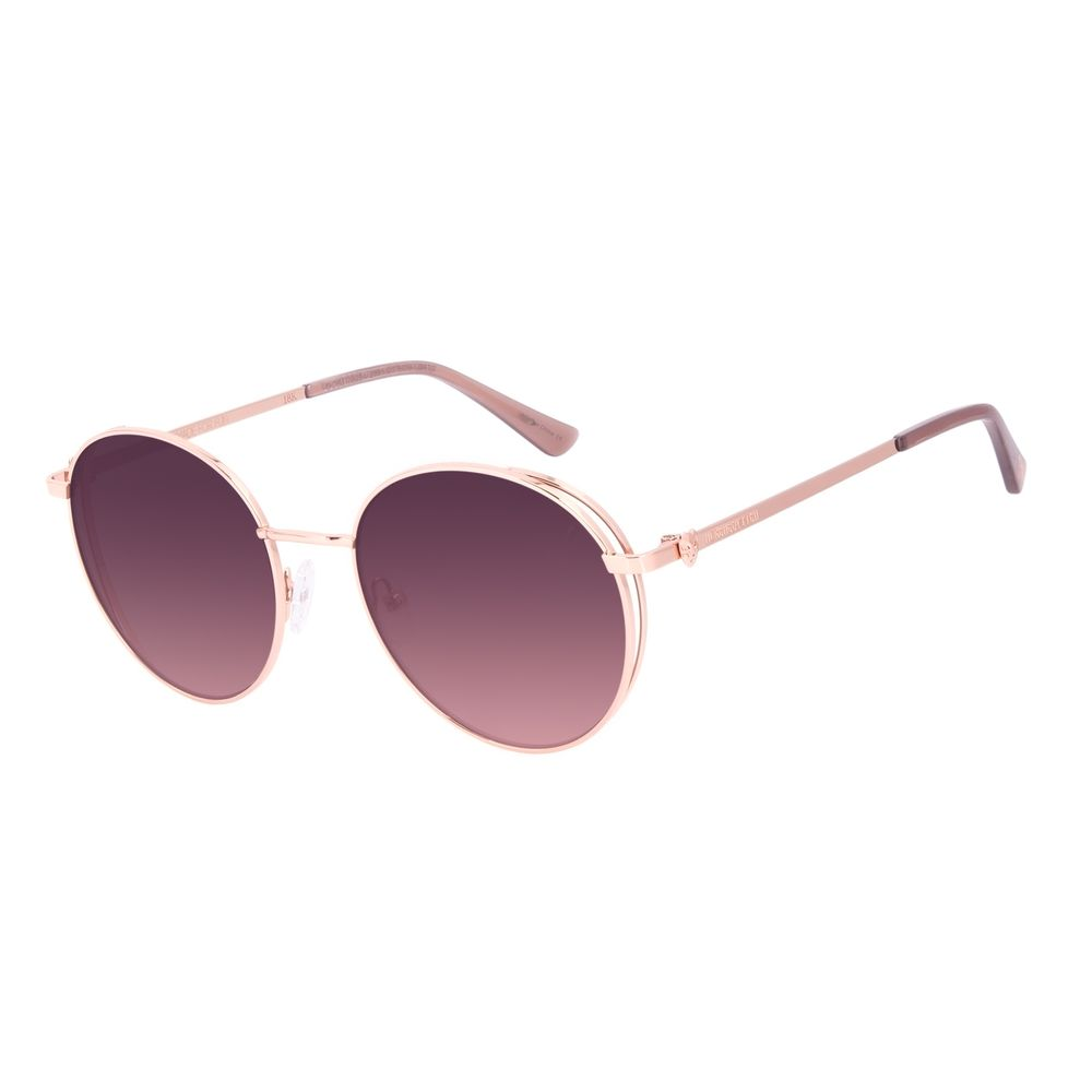 Óculos de Sol Unissex A.H Circus Burlesco Banhado a Ouro Rosé OC.MT.3034-2395