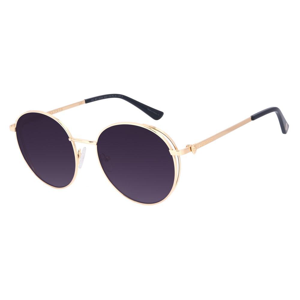 Óculos de Sol Unissex A.H Circus Burlesco Banhado a Ouro Dourado OC.MT.3034-2021