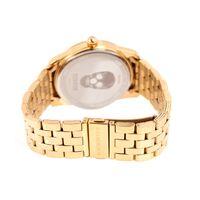 Relógio Analógico Masculino A.H Circus Caveira Dourado RE.MT.1171-1121.2