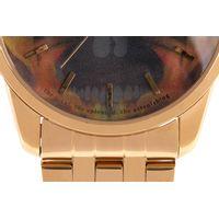 Relógio Analógico Masculino A.H Circus Caveira Dourado RE.MT.1171-1121.6