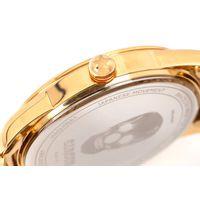 Relógio Analógico Masculino A.H Circus Caveira Dourado RE.MT.1171-1121.8