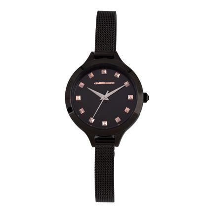 Relógio Analógico Feminino Chilli Beans Metal Crystal Preto RE.MT.1020-0101